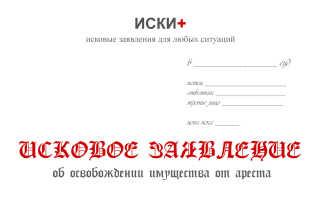 Исковое заявление об освобождении жилого помещения от наложенного ареста об освобождении жилья от ареста